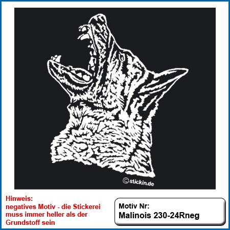 Hunde Motiv MALINOIS Stickerei Malinois Mali Belgian Malinois sticken Hundesport Bekleidung mit Malinois Hundemotov besticken sticken