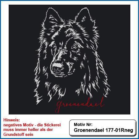 Hunde Motiv Groenendael sticken gestickt Stickerei Groenendael sticken Hundesport Bekleidung mit Groenendael besticken