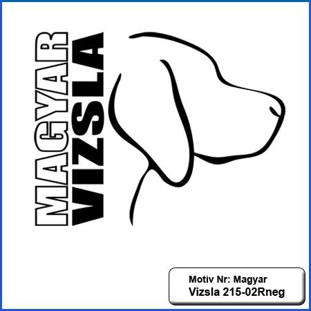 Hunde Motiv MagyarVizsla Stickerei MagyarVizsla sticken