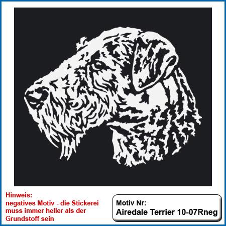 Airedale Terrier Motiv Airedale Terrier Hunde Motive Airedale Terrier Hundesport Airedale Terrier T-Shirt sticken Stickerei Airedale Terrier Stickin