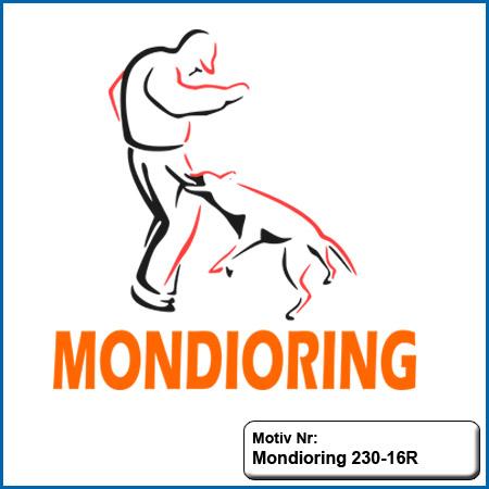 Hunde Motiv Mondioring Motiv gestickt Stickerei Mondioring Malinois gestickt