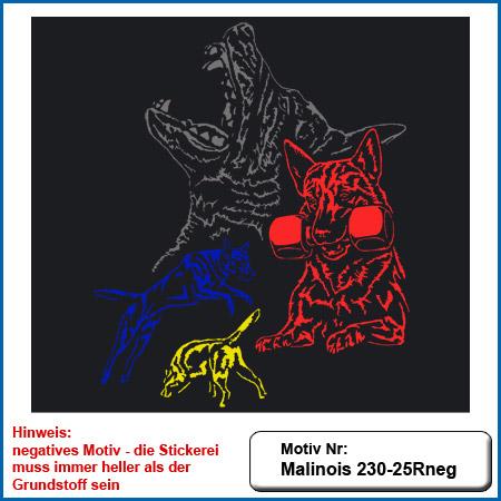 Hunde Motiv MALINOIS Kollage Stickerei Malinois Mali Belgian Malinois sticken Malinois Hundesport Bekleidung mit Malinois Schutzdienst besticken