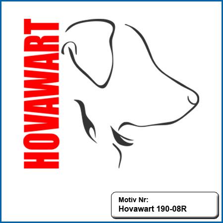 Hunde Motiv Hovawart Stickerei Hovawart Outline Hovawart Kopf mit Schriftzug sticken Hovawart Stickerei Hovawart Hundemotiv gestickt
