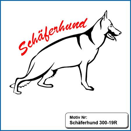 Hunde Motiv Schaeferhund Deutscher Schäferhund sticken gestickt Stickerei DSH Schäferhund Outline gestickt German Shepherd sticken