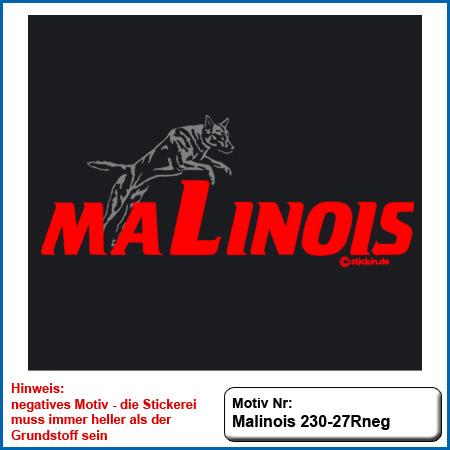 Hunde Motiv MALINOIS Stickerei Malinois Mali Belgian Malinois sticken Hundesport Bekleidung mit Malinois Hundemotov besticken sticken Malinois Motiv im Sprung