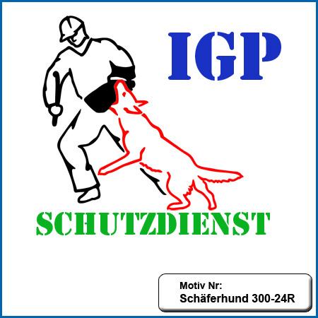 Hunde Motiv Schaeferhund Deutscher Schäferhund IGP Schutzdienst sticken gestickt Stickerei DSH Schäferhund German Shepherd sticken