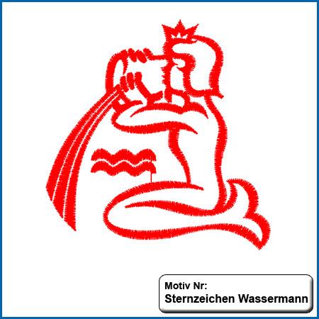 Sternzeichen Wassermann sticken Handtücher mit Namen, handtuch mit namen, handtücher, name, namen, besticken, individuell, Sternzeichen Wassermann bestickt