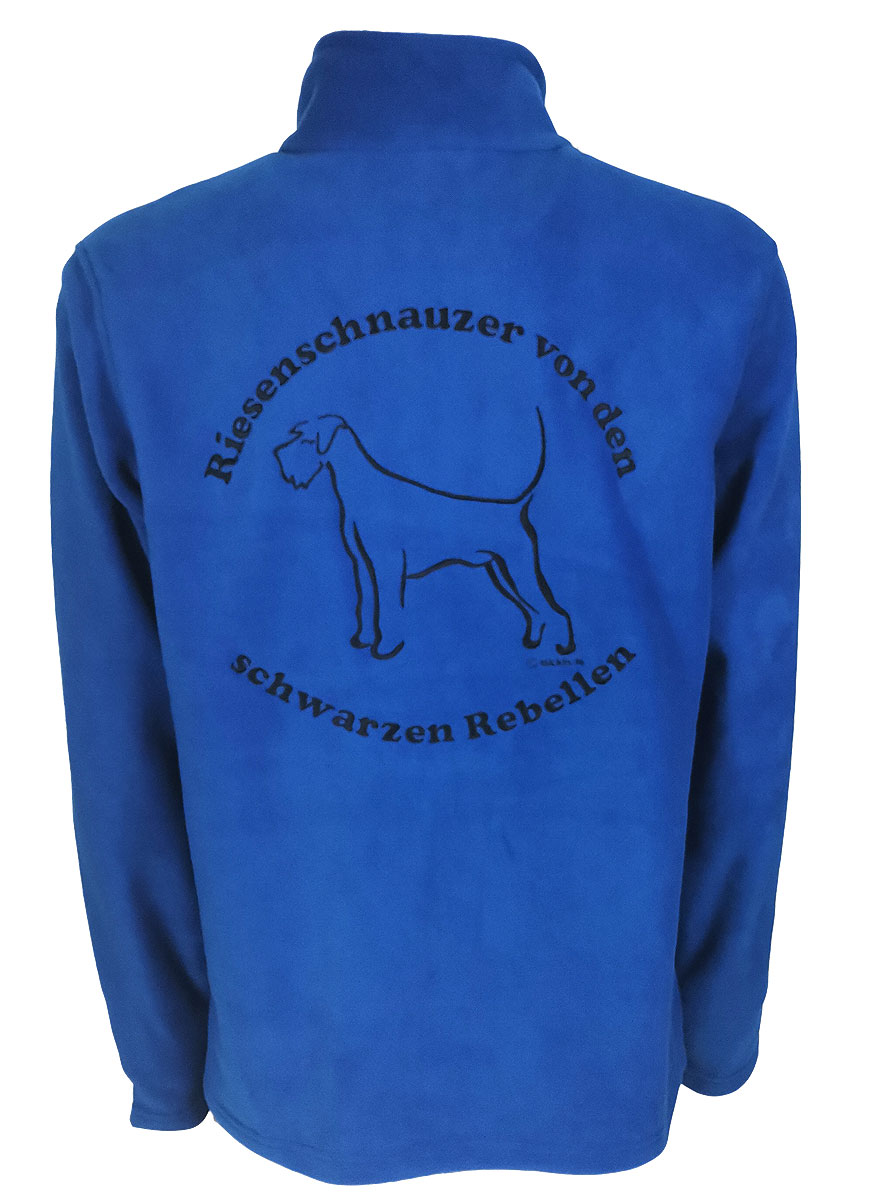 Fleece Jacke Herren Fleecejacke mit Riesenschnauzer Fleece Jacke mit Stickerei