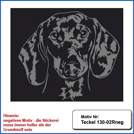 Hunde Motiv Teckel Stickerei Teckel Kopf gestickt Teckel besticken