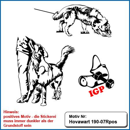 Hunde Motiv Hovawart Stickerei Hovawart IGP Hovawart bei Fuss Unterordnung Hovawart Stickerei Shcutzarm Schutzhundesport IGP Hovawart
