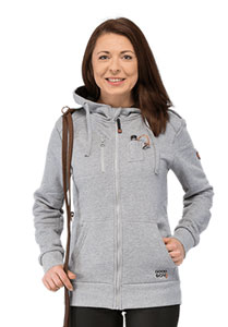 GoodBoy_Sweatjacke_Fyn_Damen_graumeliert_Model_besticken