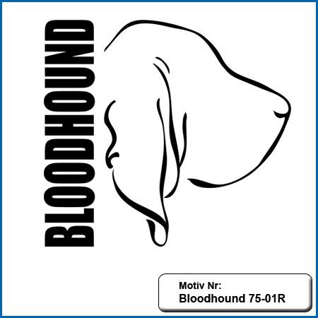 Bloodhound Motiv Hunde Motiv Bloodhound sticken Weste besticken mit Bloodhound Stickin Hundesport Bekleidung mit Bloodhound besticken