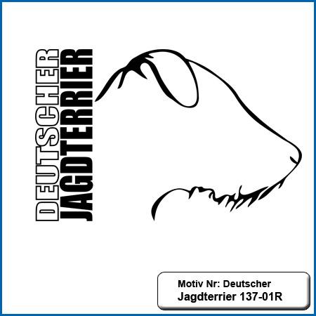 Deutscher Jagdterrier 137-01R Motiv Hunde Motiv Deutscher Jagdterrier sticken Weste besticken mit Deutscher Jagdterrier Stickin Hundesport Bekleidung mit Jagdterrier besticken