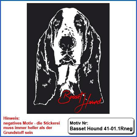 Hunde Motiv Basset Hound Hundesport Basset Hound T-Shirt sticken