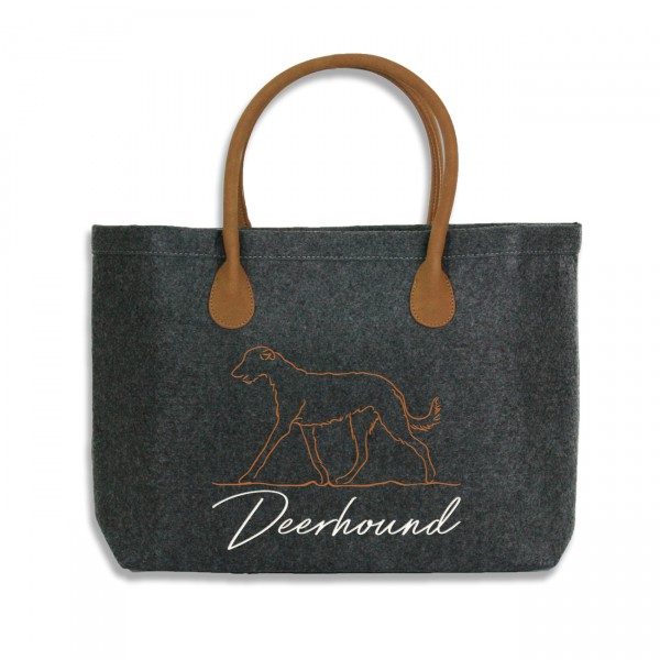 Classic Filz Shopper mit DEERHOUND Stickerei