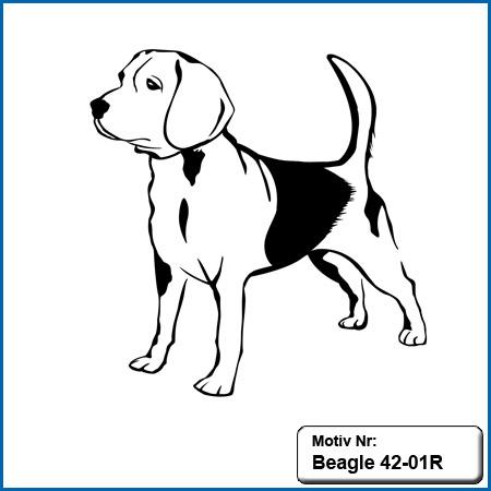 Beagle Motiv Hunde Motiv Beagle sticken Weste besticken mit Beagle Stickin