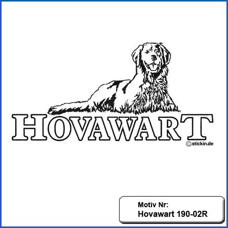 Hunde Motiv Hovawart Stickerei Hovawart einfarbig sticken