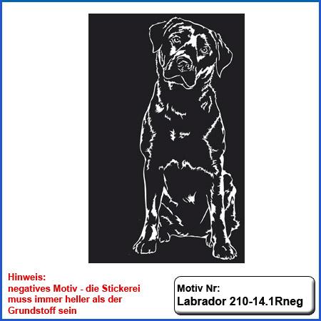 Hunde Motiv Labrador Stickerei Labrador sticken