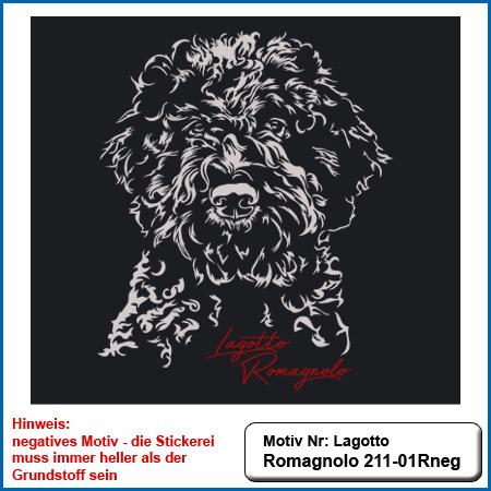 Hunde Motiv Lagotto Romagnolo Stickerei Lagotto Romagnolo sticken