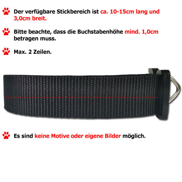 Nylon Halsband STRONG, verstellbar, 40mm breit