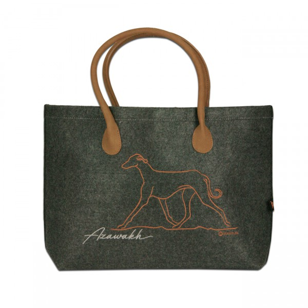 Classic Filz Shopper mit AZAWAKH Stickerei
