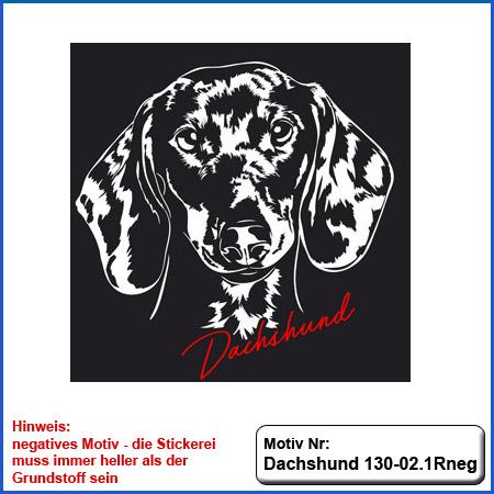 Hunde Motiv Dachshund Stickerei Dachshund Kopf gestickt Hundemotiv Dachshund mit Schrift sticken Teckel besticken
