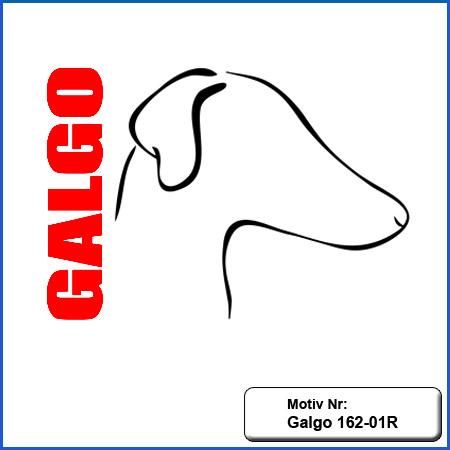 Hunde Motiv Galgo Stickerei Galgo Kopf einfarbig sticken