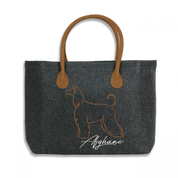 Classic Filz Shopper mit AFGHANE Stickerei