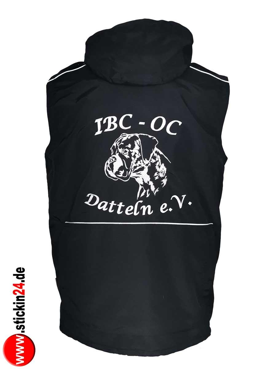 Weste GoodBoy Rocky mit IBC Boxer Stickerei für Damen Hundesportweste mit Rückentasche selbst gestalten