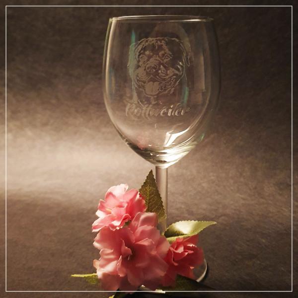 """Weißwein Glas """"ROTTWEILER"""""""