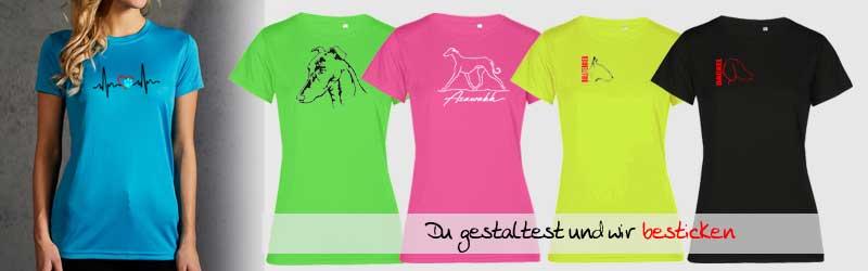 Damen_Hundesportkleidung_Sport-T-Shirt_besticken_stickin24