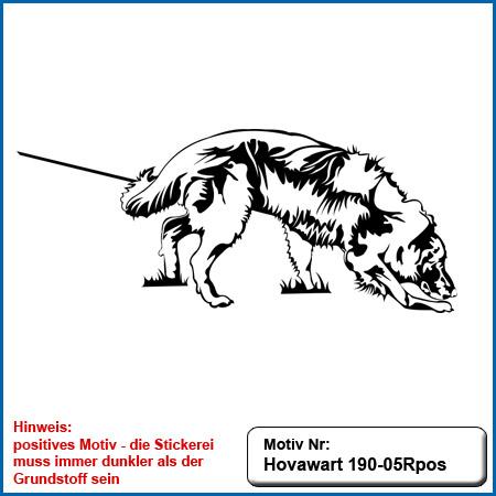 Hunde Motiv Hovawart Stickerei Hovawart IGP Hovawart suchend