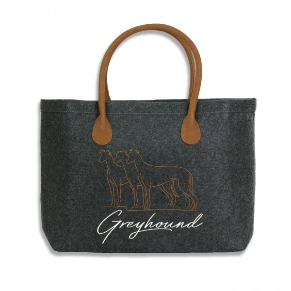 Classic Filz Shopper mit GREYHOUND Stickerei