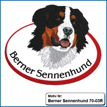 Hunde Motiv Berner Sennenhund sticken besticken Stickerei Berner Sennenhund bei Stickin
