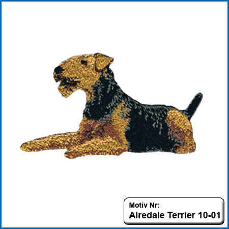 Airedale Terrier Airedale Terrier Hunde Motive Airedale Terrier Hundesport Airedale Terrier T-Shirt sticken
