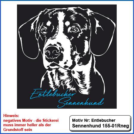Hunde Motiv Entlebucher Sennenhund Stickerei Entlebucher Sennenhund sticken
