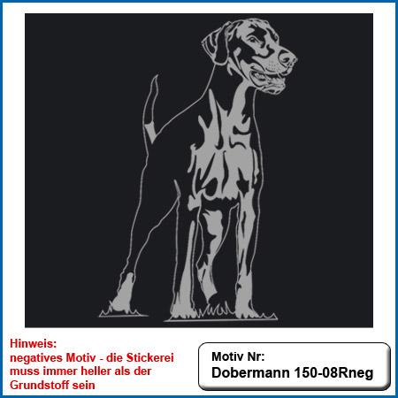 Hunde Motiv Dobermann Motiv gestickt Stickerei Dobermann gestickt Hundesport Bekleidung mit Dobermann besticken