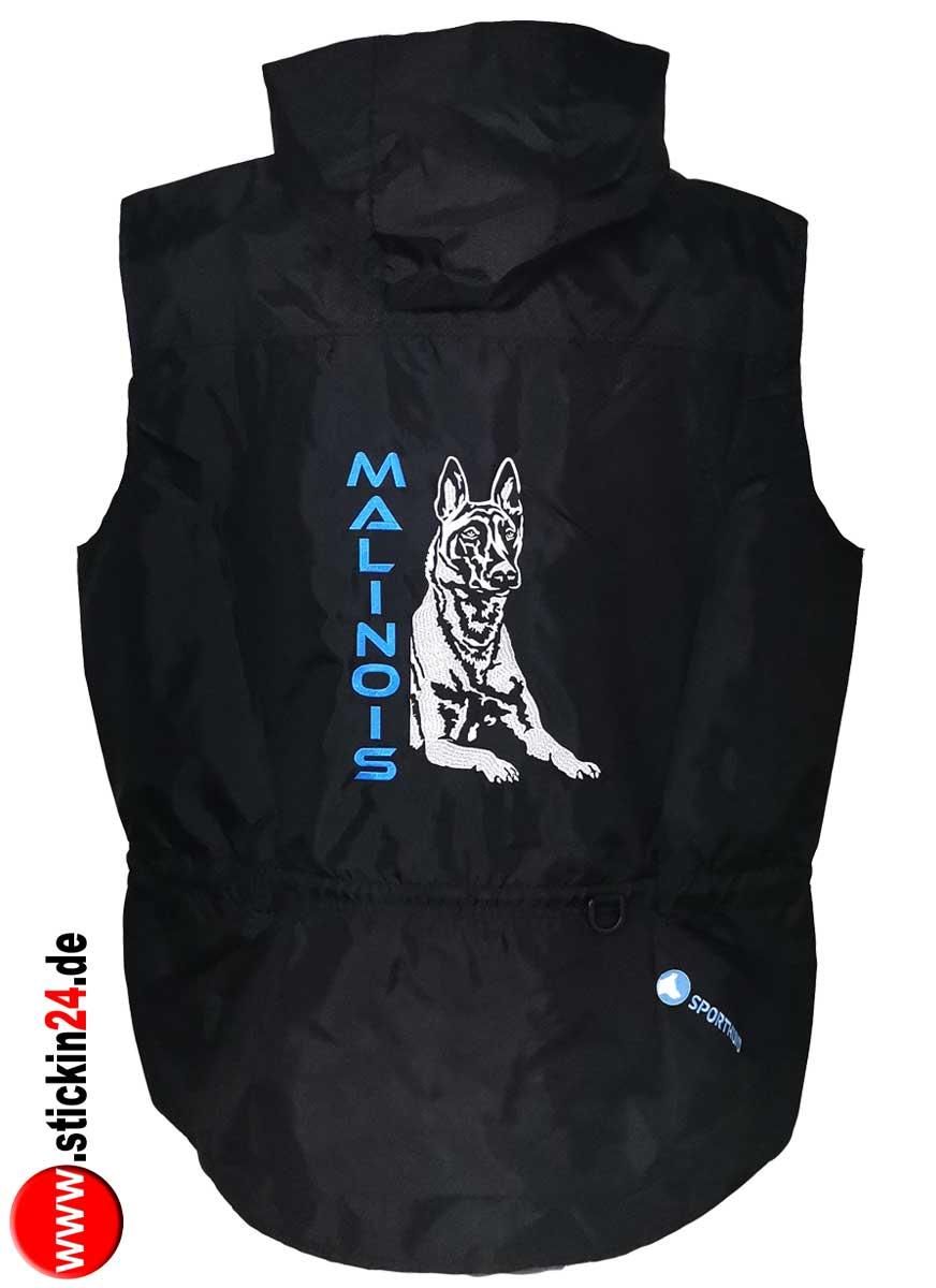 Easy Fashion Hundesport Weste von Sporthund mit Stickerei malinois gestalten