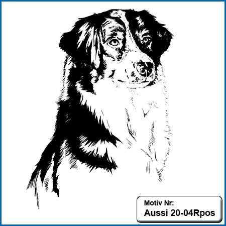 Australian Shepherd Motiv Aussie Motive Australian Shepherd sticken Australian Shepherd Stickmotiv Hunde Motiv Stickin
