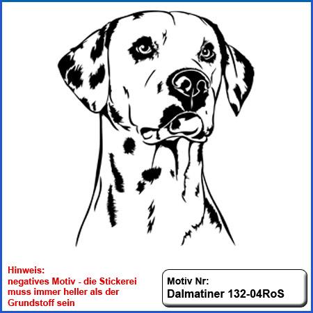 Hunde Motiv Dalmatiner Motiv gestickt Stickerei Dalmatiner gestickt Hundemotiv Dalmatiner Stickerei Dalmatiner sticken Dalmatiner gestickt