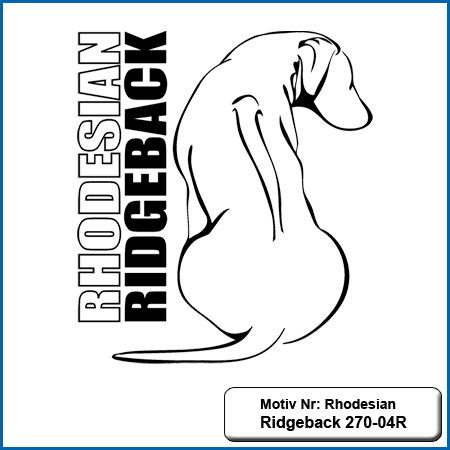 Hunde Motiv Rhodesian Ridgeback sticken gestickt Stickerei Rhodesian Ridgeback sticken Hundesport Bekleidung mit Rhodesian Ridgeback besticken