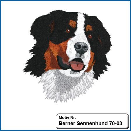 Hunde Motiv Berner Sennenhund sticken besticken Stickerei Berner Sennenhund von Stickin