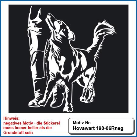 Hunde Motiv Hovawart Stickerei Hovawart IGP Hovawart bei Fuss Unterordnung Hovawart Stickerei