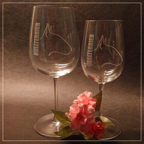 """Weißwein Glas """"BULLTERRIER"""""""