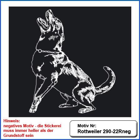 Hunde Motiv Rottweiler IGP Motiv gestickt Stickerei Rottweiler Schutzdienst verbellen