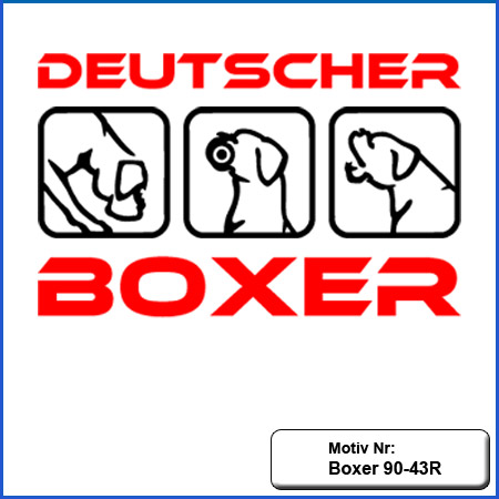 Hunde Motiv Deutscher Boxer IGP Motiv gestickt Stickerei Boxer Schutzdienst gestickt IGP Boxer Motiv