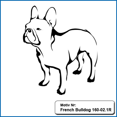 Hunde Motiv Französiche Bulldogge Stickerei french Bulldog sticken