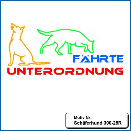 Hunde Motiv Schaeferhund Deutscher Schäferhund Fährte Unterordnung sticken gestickt Stickerei DSH Schäferhund German Shepherd sticken
